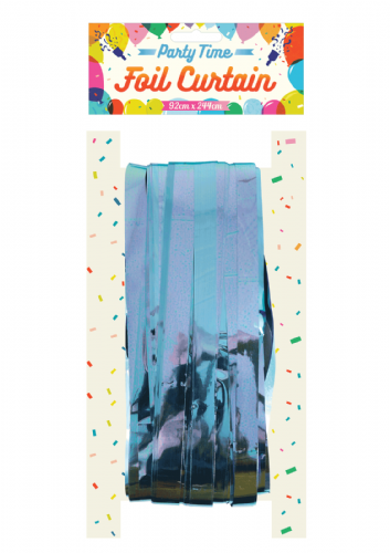 CURTAIN DOOR FOIL B/BLUE 1.2CM CUT 92 X 244CM
